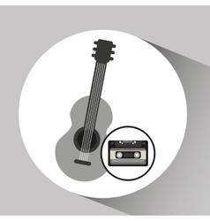 Cassette vintage guitar style hipster vector