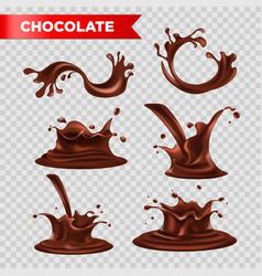 Chocolate splash fondant drops relaistc vector
