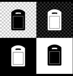 Cutting board icon isolated on black white and vector