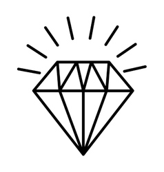 diamond bright silhouette icon vector image