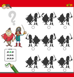 Educational shadow game with pirates vector