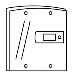 electric door icon outline style vector image
