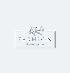 fashion flowers boutique abstract sign vector image