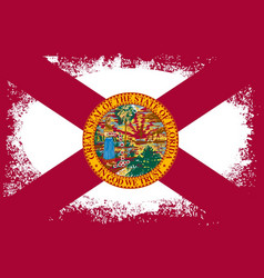 Florida state oval grunge vector
