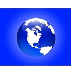 globe america vector image