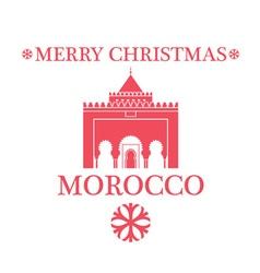 Greeting card morocco vector