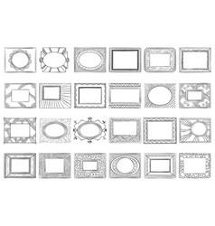 hand drawn picture frames sketch frame doodle vector image