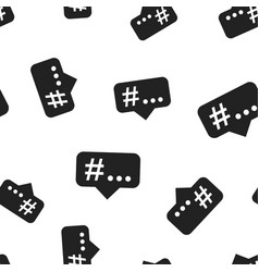 hashtag icon seamless pattern background business vector image