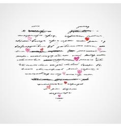 Heart of Handwriting text vector