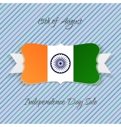 India Independence Day festive Badge vector image