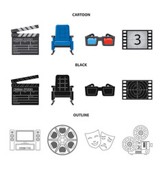 isolated object of television and filming symbol vector image