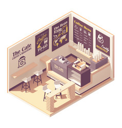 Isometric small coffeehouse vector