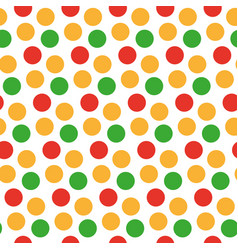Kids seamless pattern with polka dots bright vector