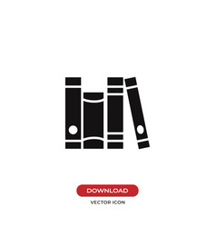 living room books group icon vector image