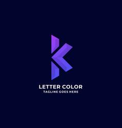 logo letter k gradient colorful vector image