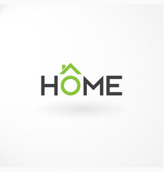 logo wordmark with combination letter home and vector image