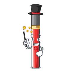 magician lip gloss above cartoon makeup table vector image