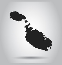 malta map black icon on white background vector image