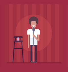 Man performing - modern flat design style isolated vector