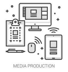Media production line infographic vector