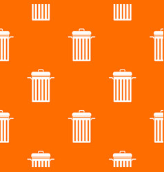 metal trash can pattern seamless vector image