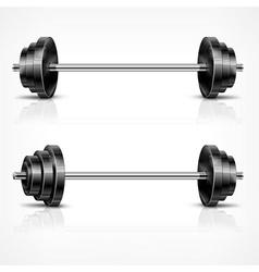 Metallic barbells vector image