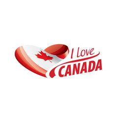 National flag canada in shape a vector