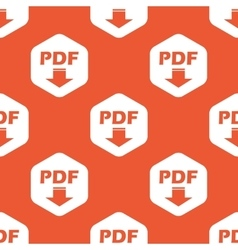 Orange hexagon PDF download pattern vector