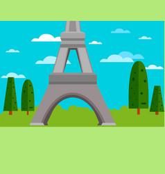 part of eifel tower vector image
