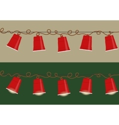 Party cups garland vector