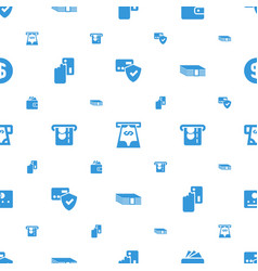Payment icons pattern seamless white background vector