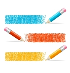 Pencil drawing header vector