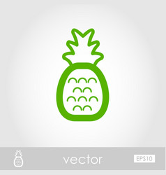 Pineapple outline icon summer vacation vector