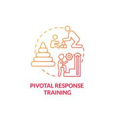 Pivotal response training concept icon vector