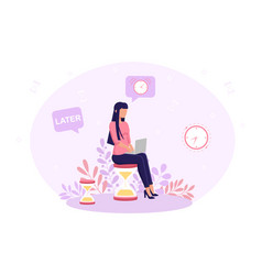 process procrastinating in business vector image