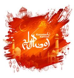 Ramadan kareem generous ramadan greetings for vector