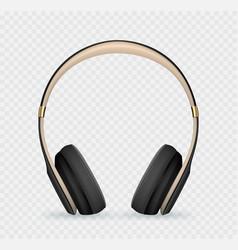 realistic headphone vector image