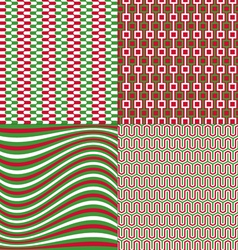 Red green patterns vector