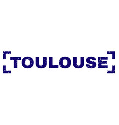 Scratched textured toulouse stamp seal between vector
