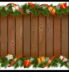 Seamless Christmas Board with Gifts vector