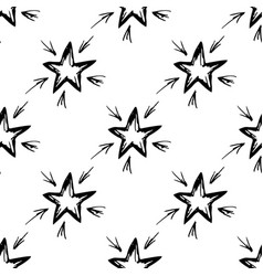 seamless pattern hand-drawn star vector image