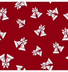 Seamless Pattern with Holiday Jingle Bells vector image