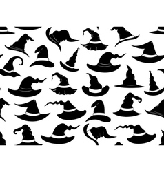 Seamless witch hats vector image