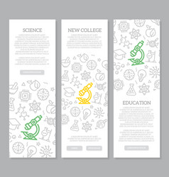 set science and research vertical vector image