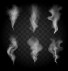 Smoke wave set vector