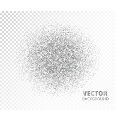 sparkling circle silver glitter explosion vector image