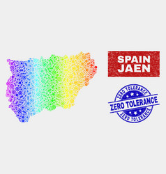 Spectral industrial jaen spanish province map and vector
