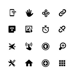 system icons vector image