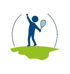 Tennis sport player icon vector