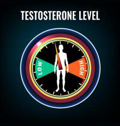 Testosterone deficiency concept vector